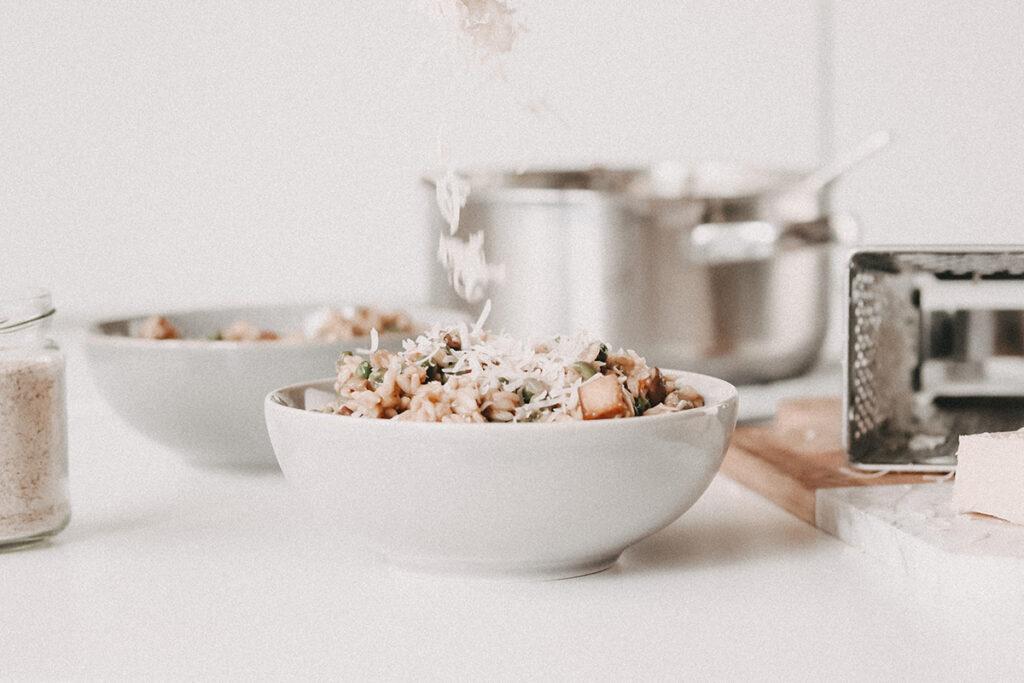 veganes Risotto Rezept mit Pilzen