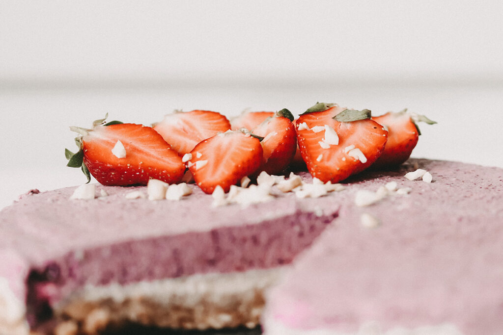 no bake cake mit Erdbeeren