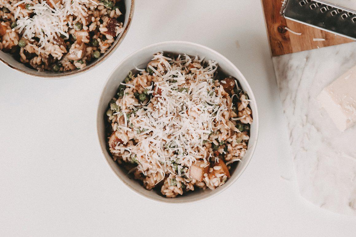 veganes Pilz risotto rezept