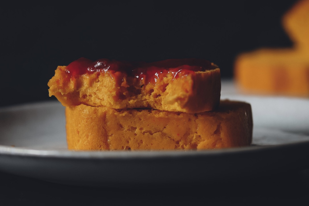 veganes Kürbisbrot mit Marmelade lenaeats