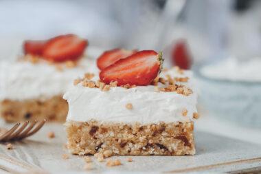 No Bake Cheesecake mit Erdbeeren